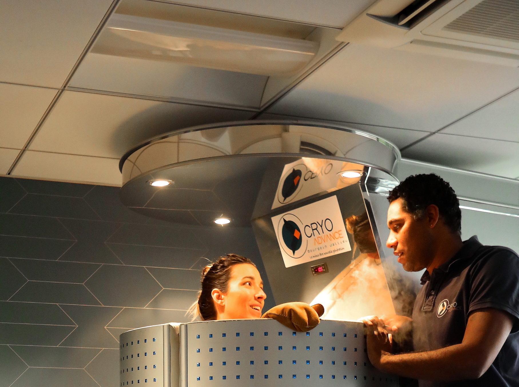 séance de cryothérapie corps entier au centre cryo advance